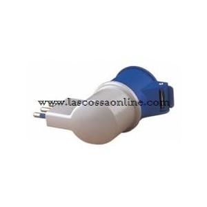 Adattatore industriale spina 16A/presa CEE 2P+T IP20