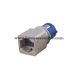 Adattatore industriale spina CEE/presa schuko 2P+T IP20