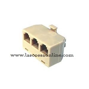 Adattatore plug con 3 uscite plug RJ11