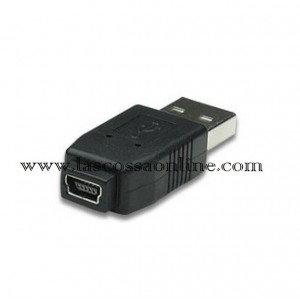 Adattatore USB A M/ mini-B 5 pin F