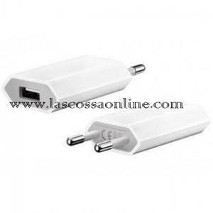 Alimentatore USB slim 5V 1A Bianco/Nero