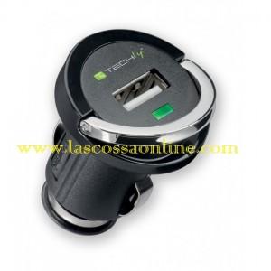 Caricatore USB da Auto 1200mA nero