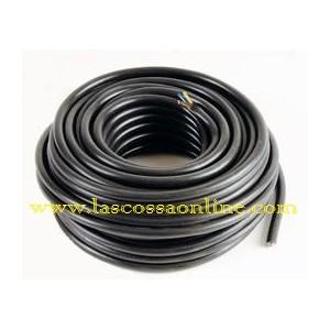 Cavo H05VV-F gommato 2x1mm nero