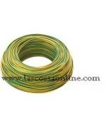 Cavo unipolare 4mm gialloverde FS17