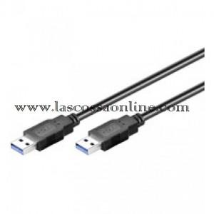 Cavo USB 3.0 maschio/ maschio 3m. Nero