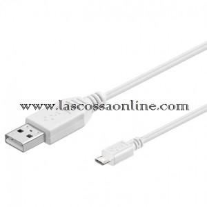 Cavo USB A m/micro B m 1.8 mt bianco