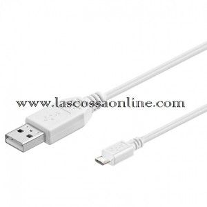 Cavo USB A m/micro B m 1m bianco