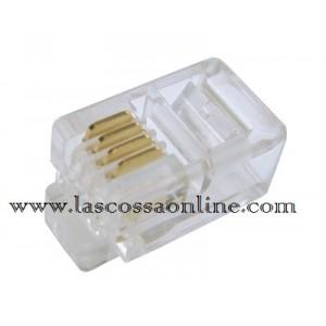 Connettore a Plug telefonico 4P/4C