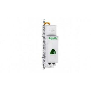 Lampada segnaletica verde 230VCA 1 modulo