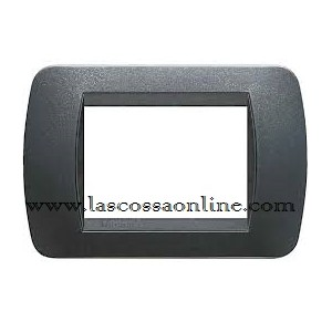 Placca 3P plastic acciaio scuro