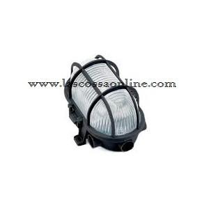 Plafoniera ovale con gabbia 60W nera